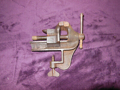 Vintage Hardy 2 12 Made In Usa Small Table Clamp Vise W Anvil  2 12 Jaws