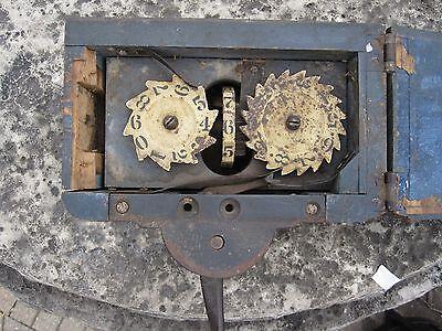 Antique Midwest American Folk Art Threshing Machine Counter Original Paint Il Wi