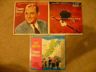 TOMMY DORSEY WITH BUDDY RICH 45 RECORDS IN SLEEVES 3 IN ALL