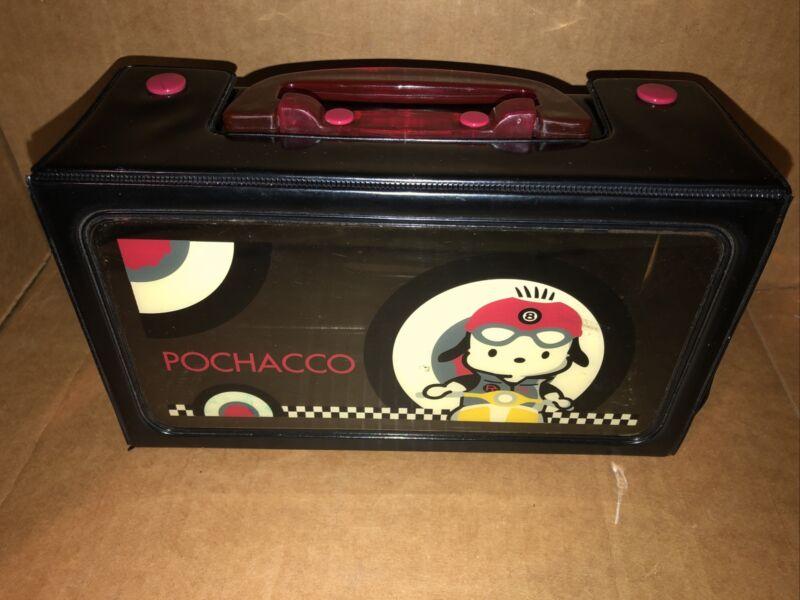 Vintage Sanrio Pochacco Scooter Club Vinyl Case Carry Case 2002 RARE