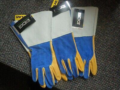 Bdg Split Leather Moosehide Tig Welder Gloves Size Med.