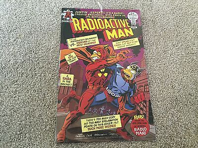New! Radioactive Man Superhero from Comics - Collectible Metal Sign in Plastic - Radioactive Superhero