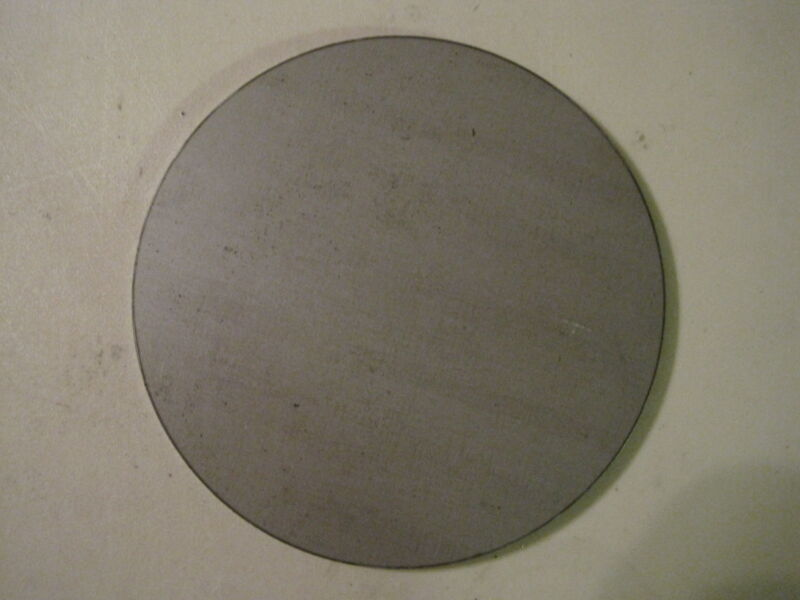 "1/4"" Steel Plate, Disc Shaped, 6"" Diameter, .250 A36 Steel, Round, Circle"