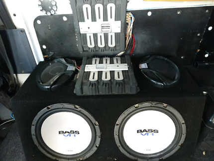 2 subs, 2 amps, set of 6\9 speakers with box