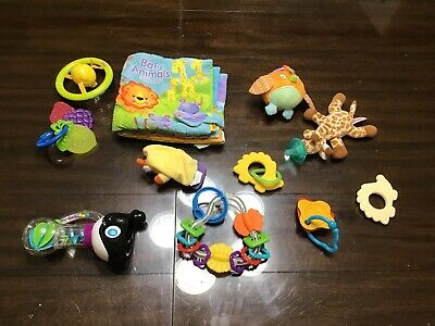 Lot 11 baby infant developmental stroller TOYS FISHER PRICE Tomy rattle book