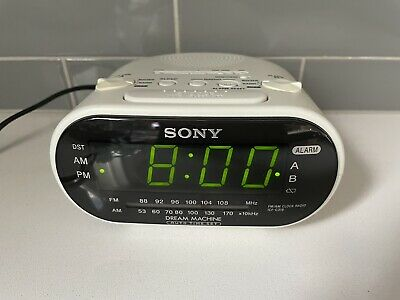 White Sony Dream Machine ICF-C318 FM/AM Dual Alarm Clock Radio