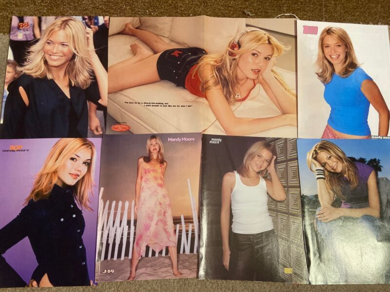 Mandy Moore 90s Lot of 12 Magazine Poster Clippings
