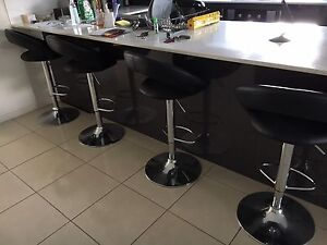 Black leather bar stools Griffin Pine Rivers Area Preview