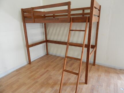 Single brown loft bunk bed SYDNEY DELIVERY & ASSEMBLY AVAILABL