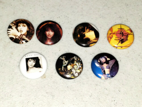 Kate Bush 7 1Inch Buttons NEW Dreaming Lionheart Kick Inside