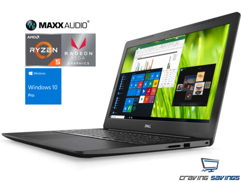 """Dell Inspiron 15.6"""" FHD Laptop, Ryzen 5 2500U, 16GB DDR4, 1TB SSD, W10P (BLK)"""