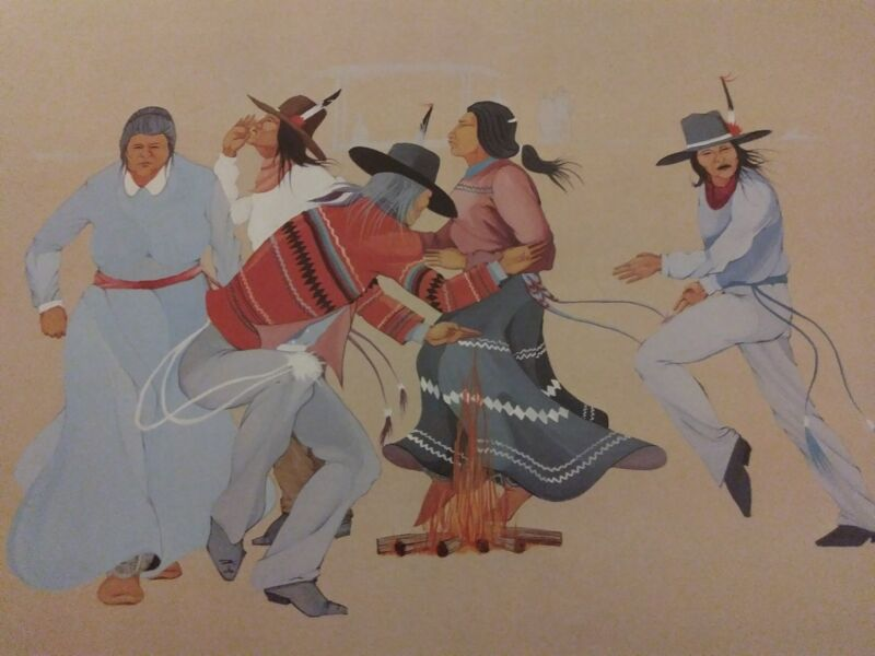 """23x19 NATIVE AMERICAN ART Lee Roy Joshua RITUAL """"82"""" Signed and Numbered"""