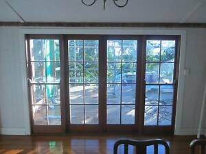 Silky Oak French Doors with Double Hung Windows in Frame Ashgrove Brisbane North West Preview