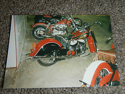 OLD VINTAGE MOTORCYCLE PICTURE PHOTOGRAPH INDIAN BIKE #3