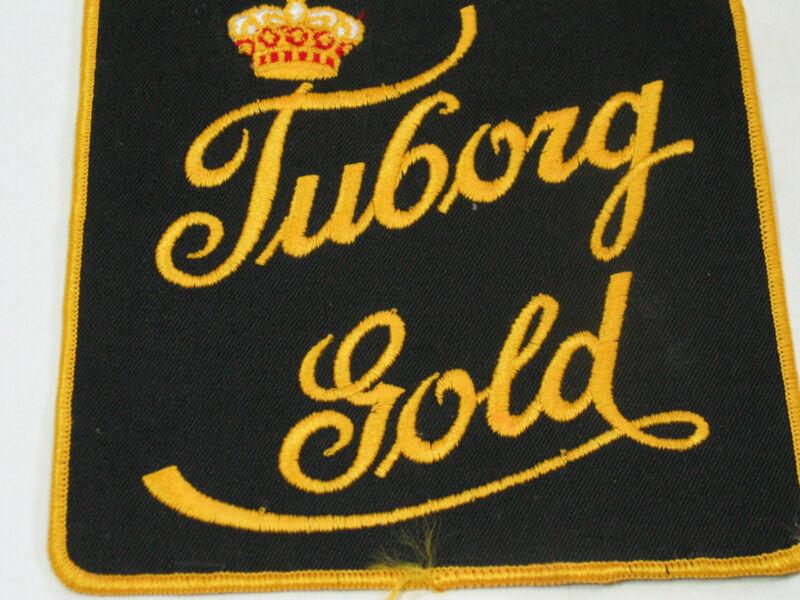 Vintage Tuborg Gold Beer L Jacket Patch