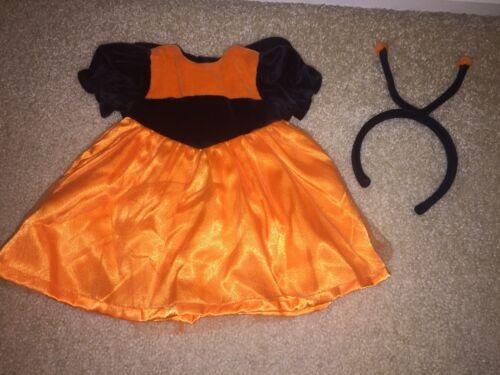 American Girl Halloween Costume Monarch Butterfly Orange Black Headband  - $15.99