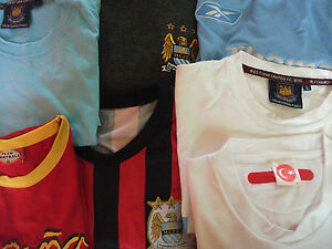 Mens-Vintage-Football-Teams-Tops-Shirts-Shorts-Jackets-Various-Sizes