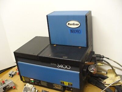 Nordson 3400 Hot Melt Glue Tank Gluer Model 3400-2ea12ap For 2 Hoses 2 Guns