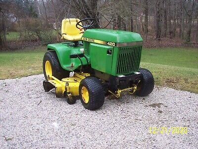John Deere 420 Tractor With 60 Mower Deck And 48 Plow Honda Engine