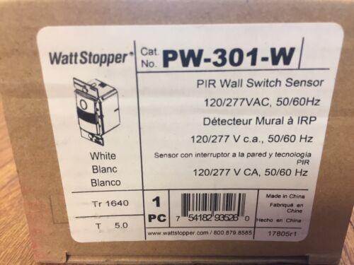 WattStopper  PW-301-W , PIP Wall switch sensor - new