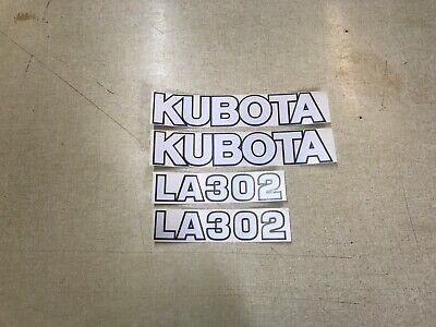 Kubota La302 Loader Decals