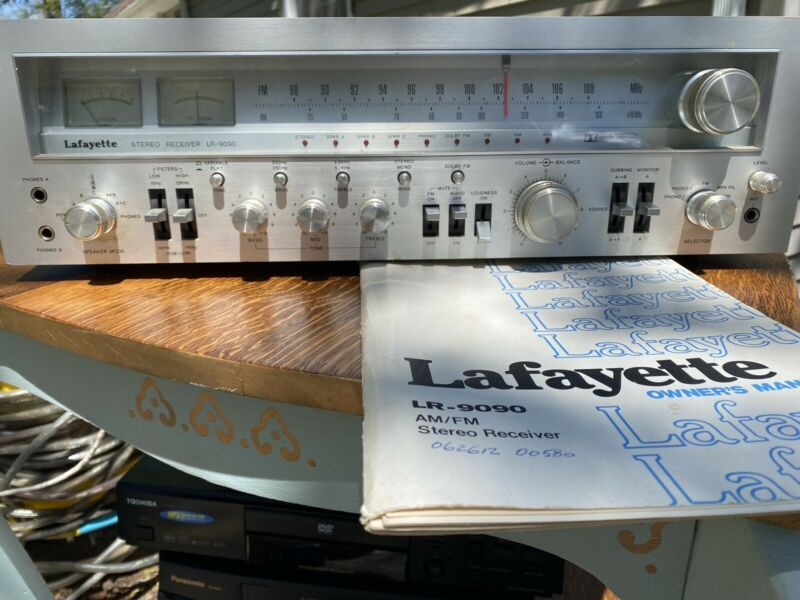 Lafayette LR-9090 Stereo Receiver (vintage) working