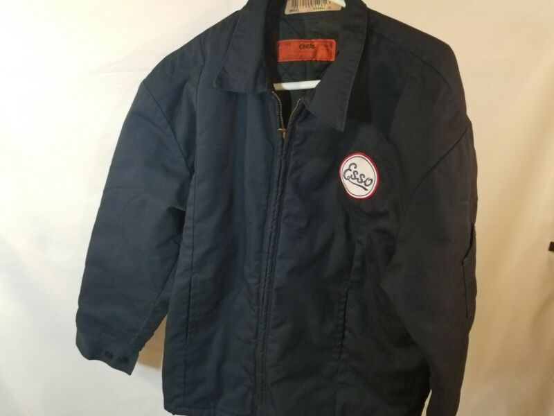 XL Esso Work Coat Jacket Vintage Retro Gas Oil