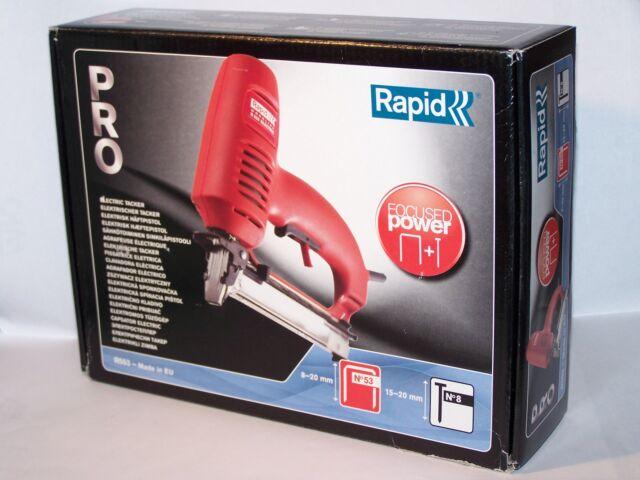 Elektrotacker  Rapid  R553    für Klammern Typ 53   8-20mm  u. Nägel15-20m  -NEU