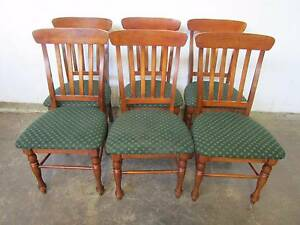 D5074 Lovely Set 6 Timber Dining Chairs Mount Barker Mount Barker Area Preview