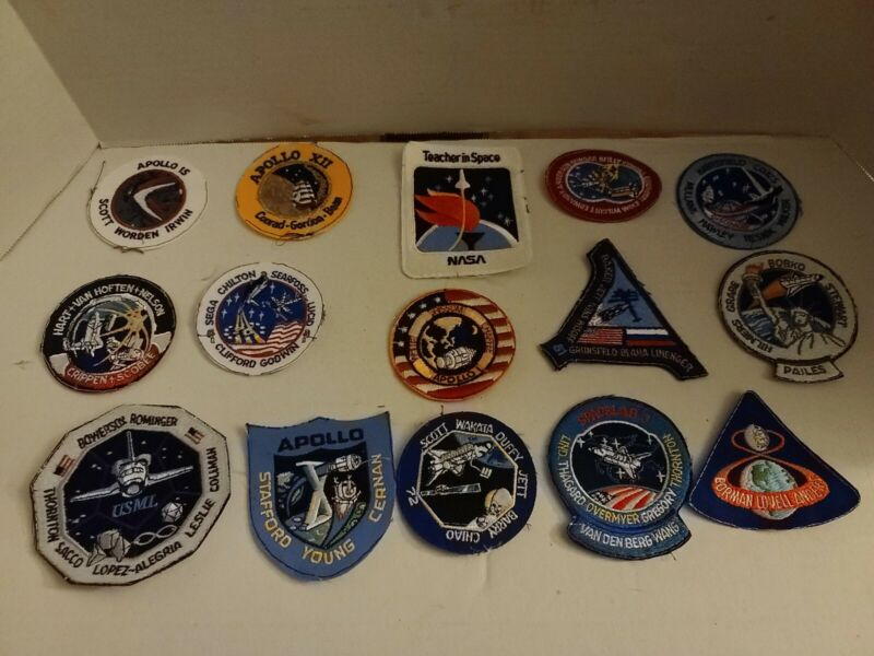 """LOT of 15- """"NASA"""" Space Patchs Lot (38)"""