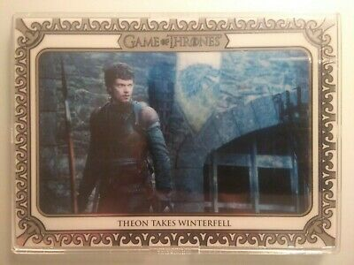 2019 Game of Thrones Inflexions White Parallel 33/50 Theon Takes Winterfell #34