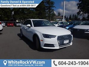 2017 Audi A4 2.0T Progressiv Navigation, Memory Seat, Heated...