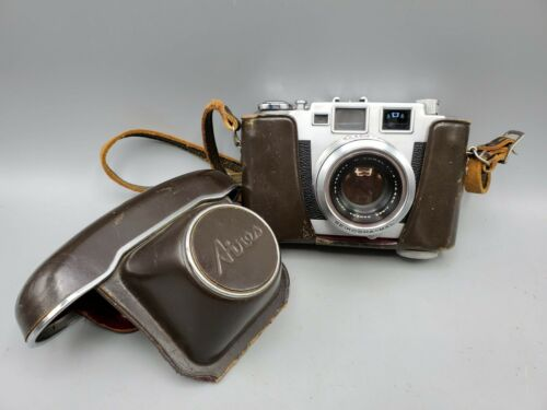 Aires 35-III L Rangefinder 35mm Film Camera w/ H Coral F1.9 4.5cm Lens & Case