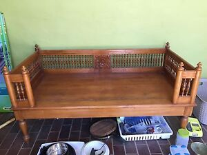 "Indonesian carved ""daybed"": SOLD! Hackett North Canberra Preview"