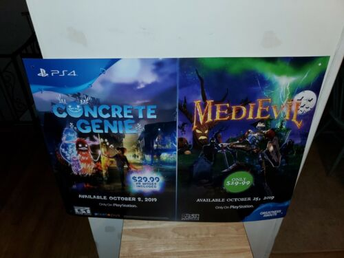 "Concrete Genie/Medievil Promotional video game Display Poster Ps4 36""×26"""