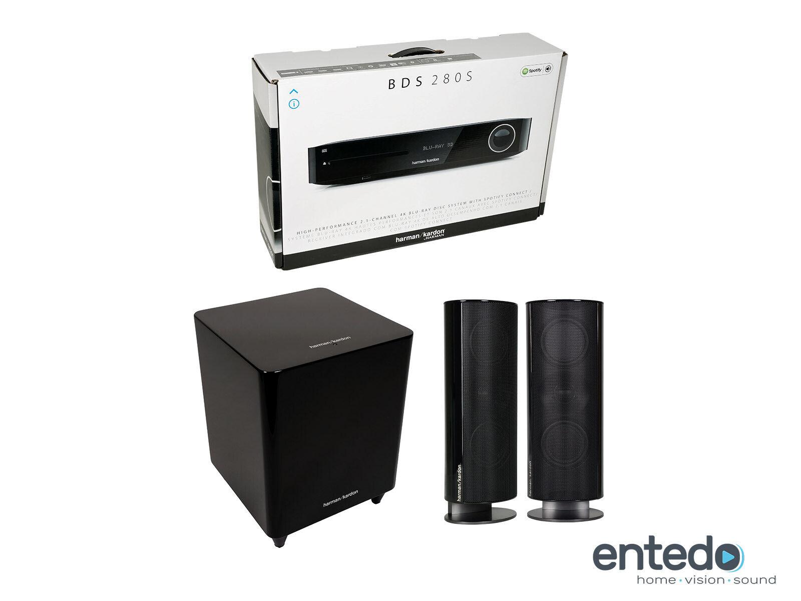 Harman Kardon BDS 485S 2.1 3D Bluray Soundsystem Set Speaker 4K Spotify HKTS