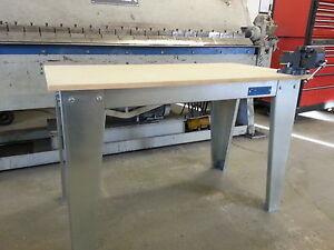 Garage bench.Carpenters bench, Metal workbench, Industrial bench.engineers bench