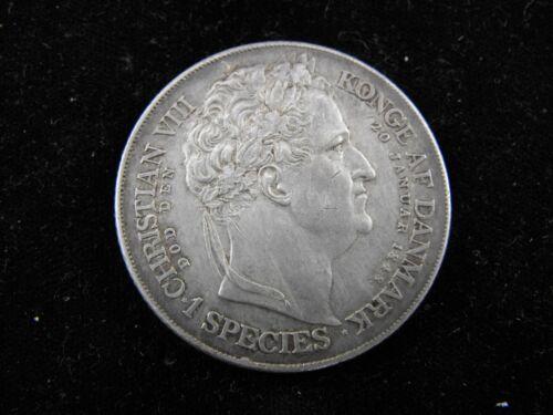 DENMARK Frederik VII 1848 Speciedaler Silver Crown