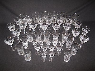 Antique Set of Thomas Webb & Sons Crystal Glasses Early 1900's