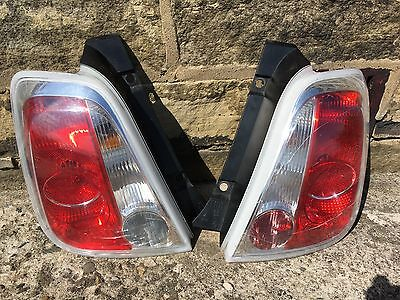 Fiat 500 Both Rear Tailights Cluster OSNS Fits Abarth Working with All Bulbs