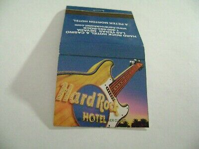 "1- Match Book, ""THE HARD ROCK HOTEL & CASINO"", Las Vegas, complete, A++++."