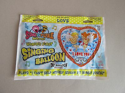 Singing Foil Balloon I Love you plays