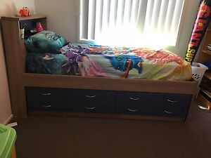 Single bed with built-in Drawers and Bedside Drawers Salt Ash Port Stephens Area Preview