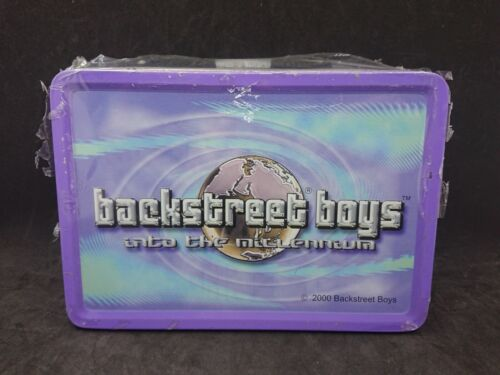 Factory Sealed 2000 Backstreet Boys Into the Millennium Tin Lunchbox Tote strap