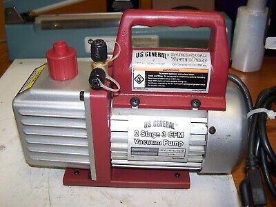 New Us General 2 Stage 3 Cfm Vacuum Pump 120v 13 Hp 10 Oz Oil Capacity 66466