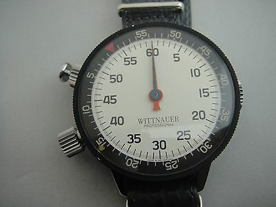 HUGE VINTAGE WITTNAUER TIMER W/ HEUER MOVEMENT CHRONOGRAPH MANUAL WIND STOPWATCH