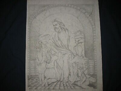 ARTEX 2241 JESUS AND THE CHILDREN Picture To Paint tri Chem  - $20.50