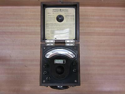 General Electric 3198363 Antique Ac Voltmeter Vintage Industrial