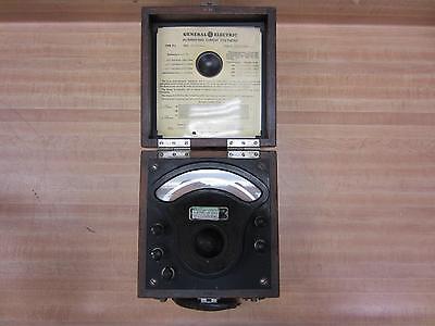 General Electric 3198363 Antique Ac Voltmeter Vintage Industrial