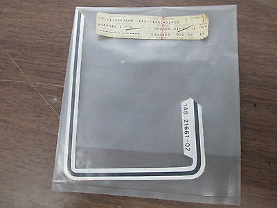NOS Yamaha Rear Fender Left Graphic 1976 XS500 1A8-21661-02-00